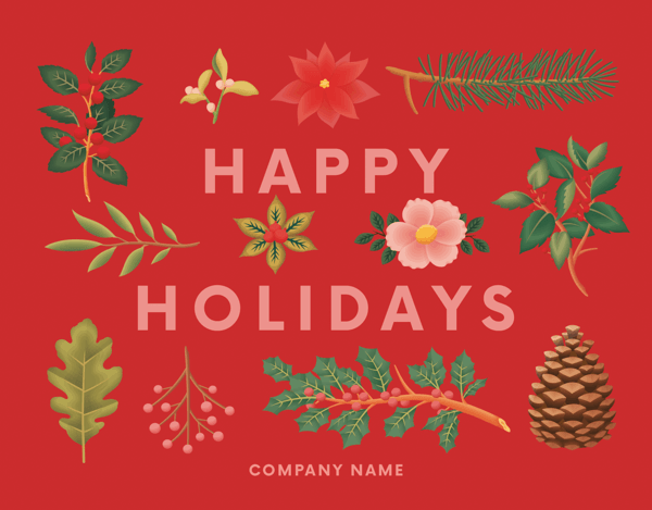 Red Holiday Botanicals