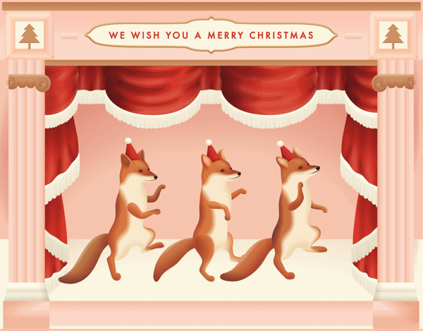 Dancing Santa Foxes