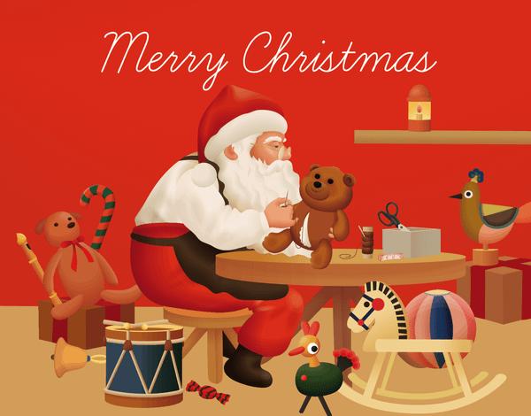 Santa And Toys