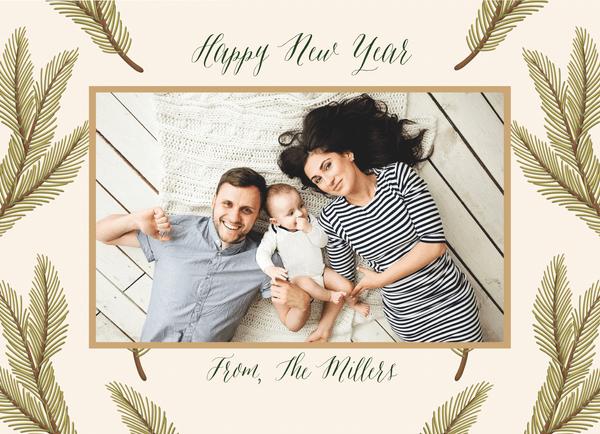 Festive Pine Frame New Year