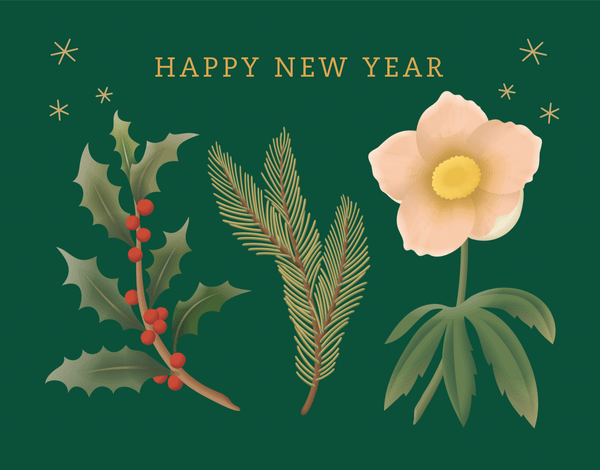 Happy New Year Florals