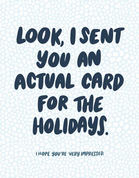 Actual Card Holidays