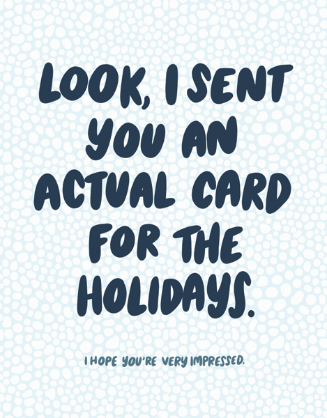 Actual Card Holidays