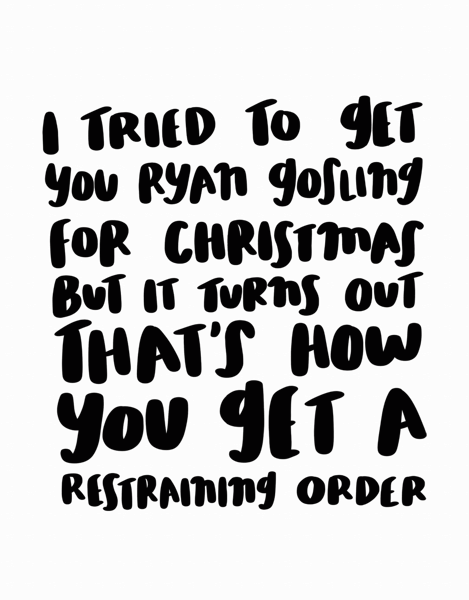 Ryan Gosling Christmas