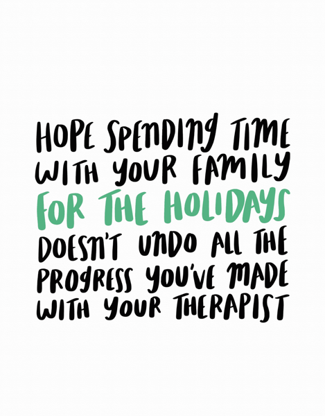 Therapist Holiday