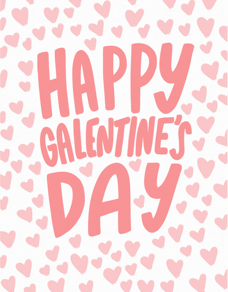 Galentine's Day Hearts
