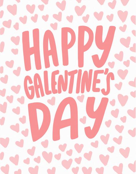 Galentine's Day Hearts
