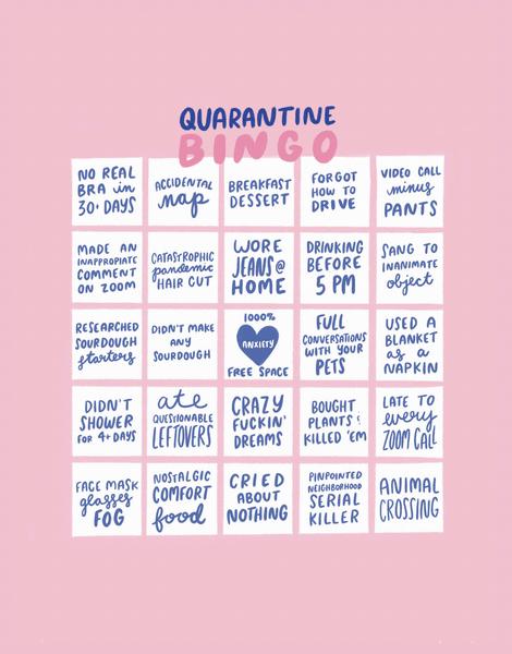 Quarantine Bingo