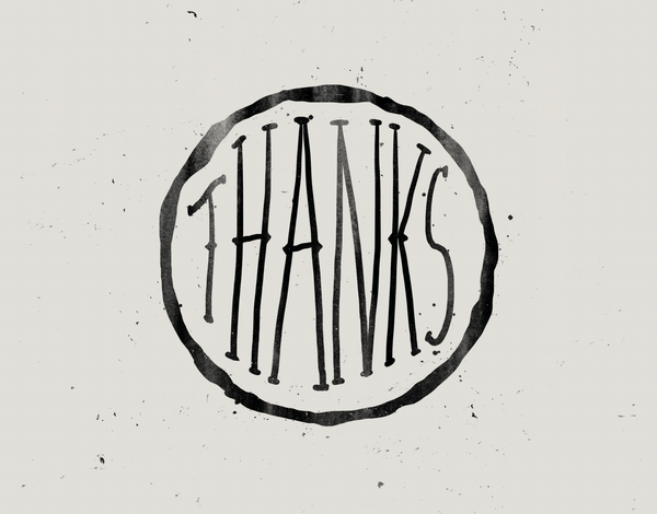 Inked Thank You Card