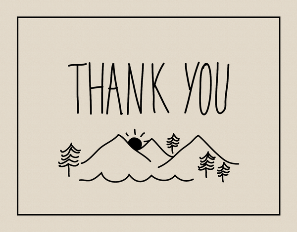 Rustic Thank You Card