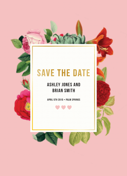 Botanical Save the date