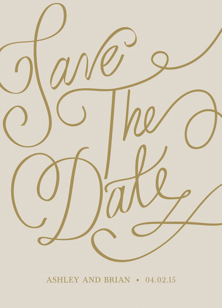 Calligraphy Save the date