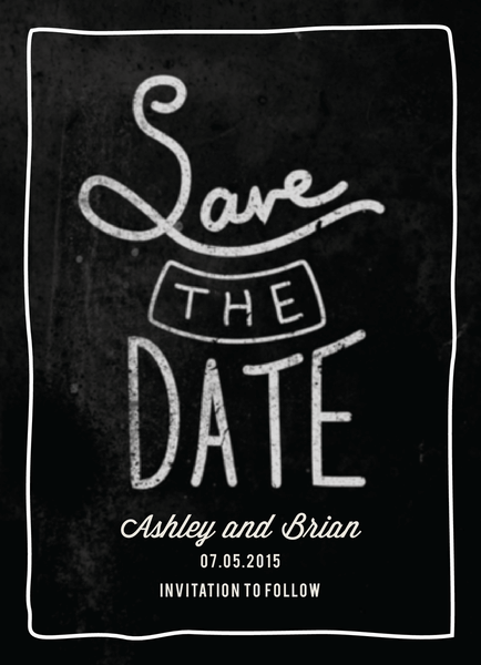 Stacked Save the date