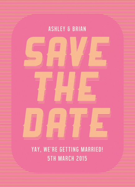 Pink and Coral Save the date