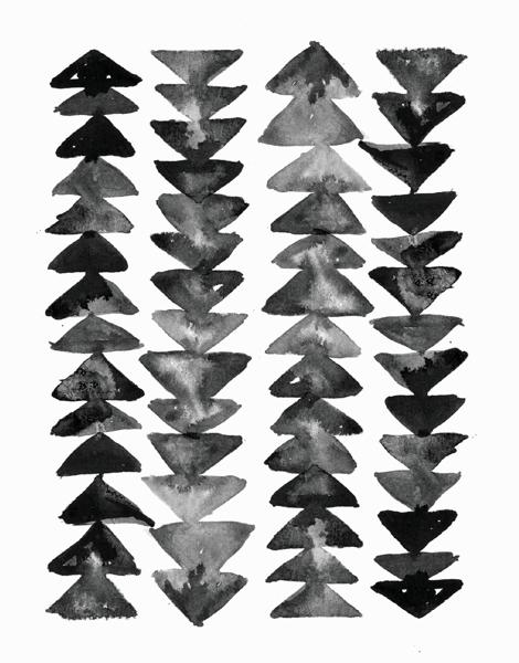 Arrow Pattern Greeting Card