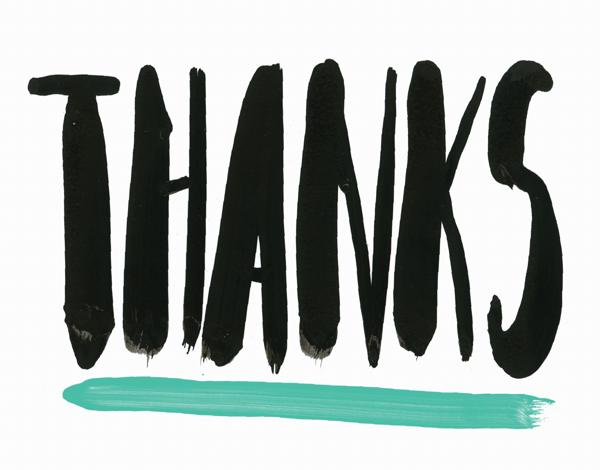 Bold Thanks Greeting Card