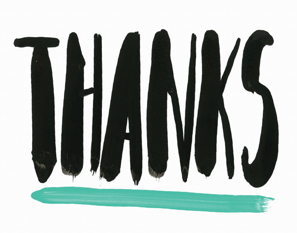 Bold Thanks Greeting Card
