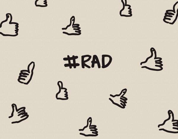 Hashtag Rad Congratulations Card