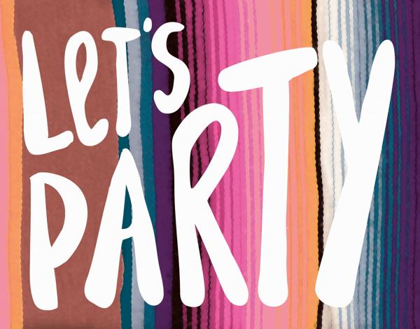 Southwest Party Birthday Card