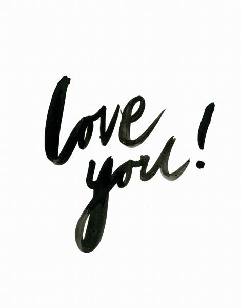 Simple Love You Brush Type Love Card