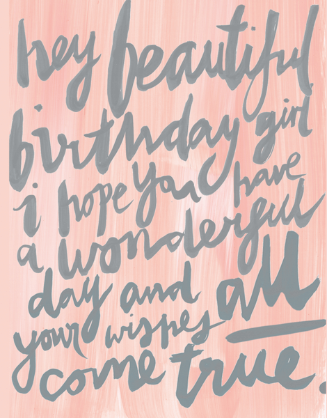 Painterly Birthday Girl Birthday Card