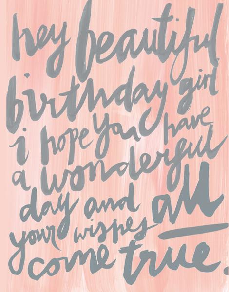 Painterly Birthday Girl Birthday Card