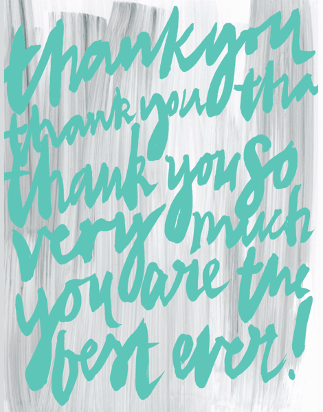 Handwritten Thank You Card