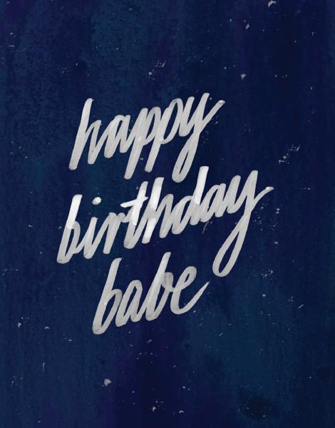 Happy Birthday Babe