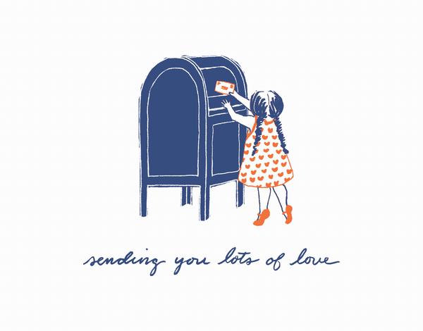 Cursive Sending You Love Card