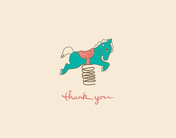playful Playground Thank you card