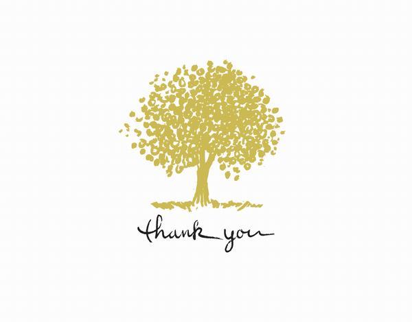 Tree Thanks greeting card