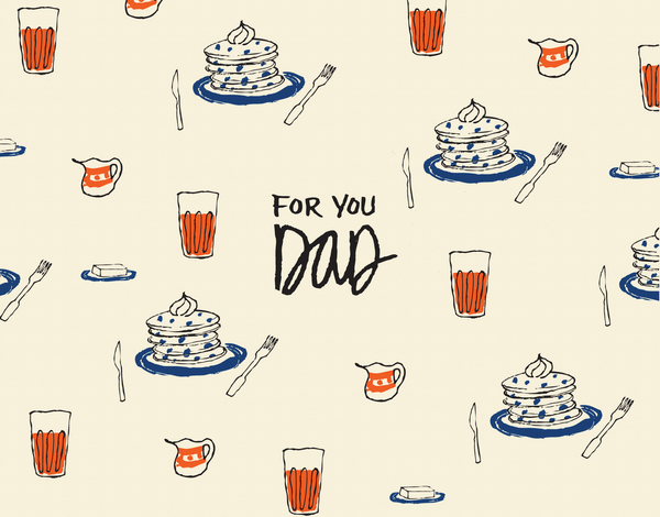 Hand drawn doodle father's day card