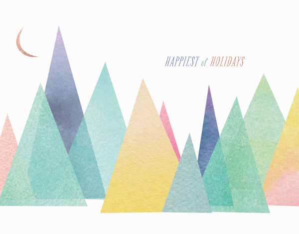 pastel colors holiday greeting card