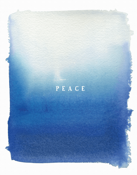 blue hombre watercolored peace holiday greeting