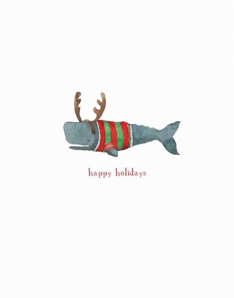 minimalistic funny happy holidays greeting card