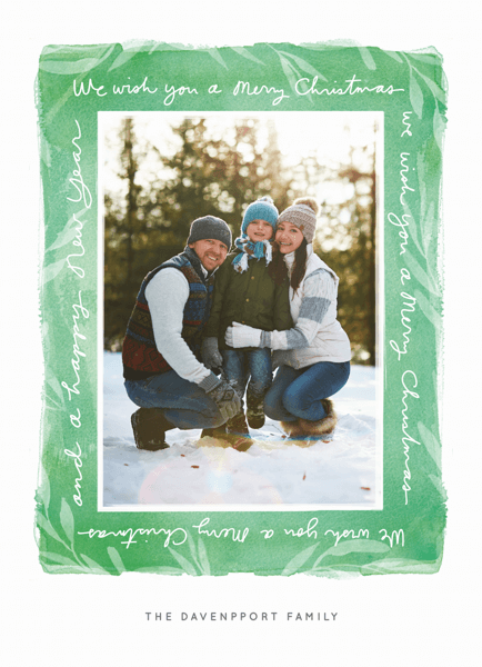 green-border-holiday-card