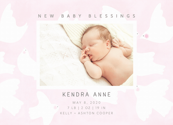 Pink Baby Blessings
