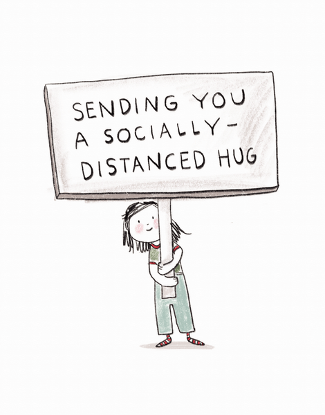 Socially Distanced Hug