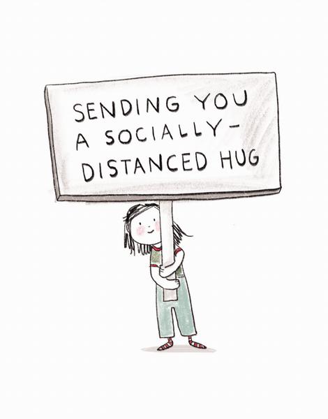 Socially Distanced Hug