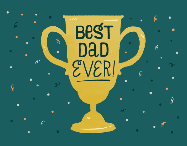 painted Best Dad father's day card