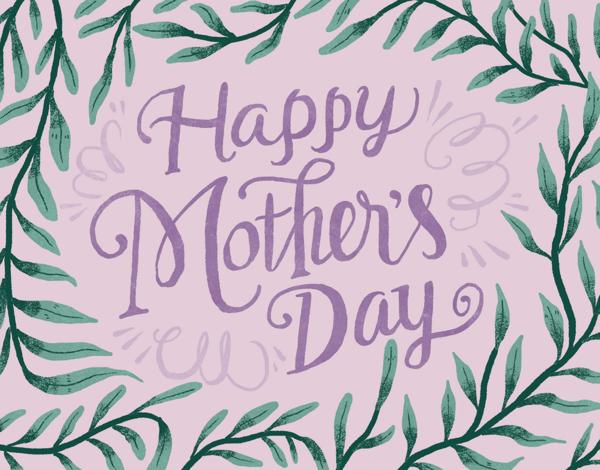 Lavender Leaf Mother's Day