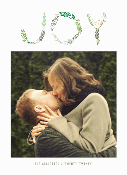 joy in branches photo holiday card
