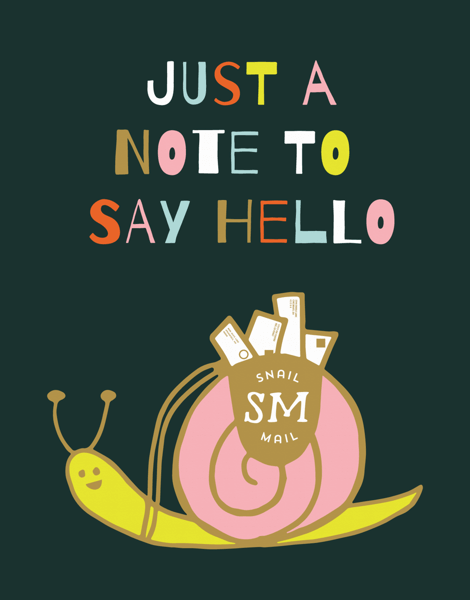 A Note To Say Hello