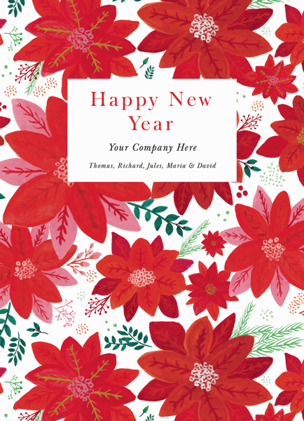 Poinsettia Pattern New Year