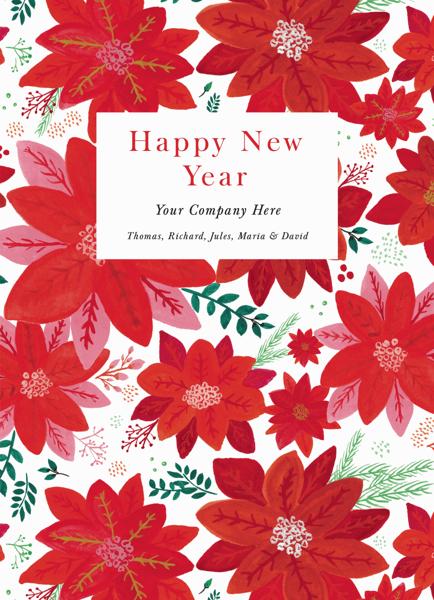 Poinsettia Pattern New Year