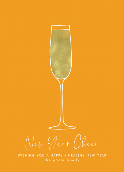 Yellow Champagne Toast