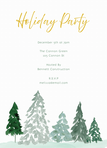 Wispy Trees Invite