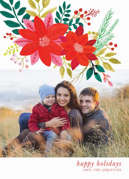 Poinsettia Holiday Overlay