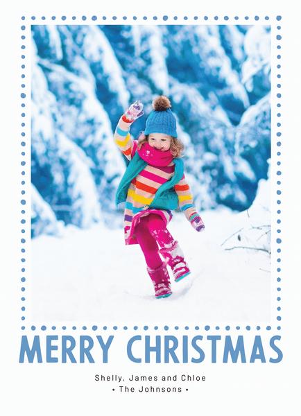 Blue Dot Christmas Frame