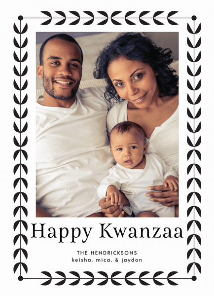 Simple Border Kwanzaa